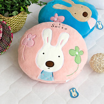 [Sugar Rabbit - Round Pink01]Travel Pillow Blanket  - $22.99