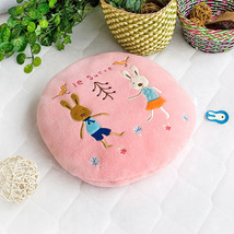 [Sugar Rabbit - Round Pink02]Travel Pillow Blanket  - $24.99