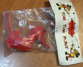 Vintage Plastic Whistle Duck 1960's Children Party Toy Israel Tim Tam Plast NOS image 4
