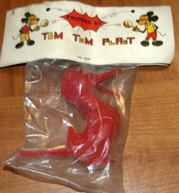 Vintage Plastic Whistle Duck 1960's Children Party Toy Israel Tim Tam Plast NOS image 11