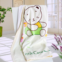[Little Bear Coro] Polar Fleece Throw Blanket  - $29.99
