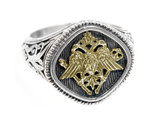 02002782 designer gerochristo gold silver double headed eagle ring 20 thumb155 crop