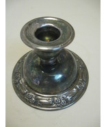 Oneida Silver Smith Candle Stick Holder Flower & Leaf Design Silver Plate - $13.22 CAD