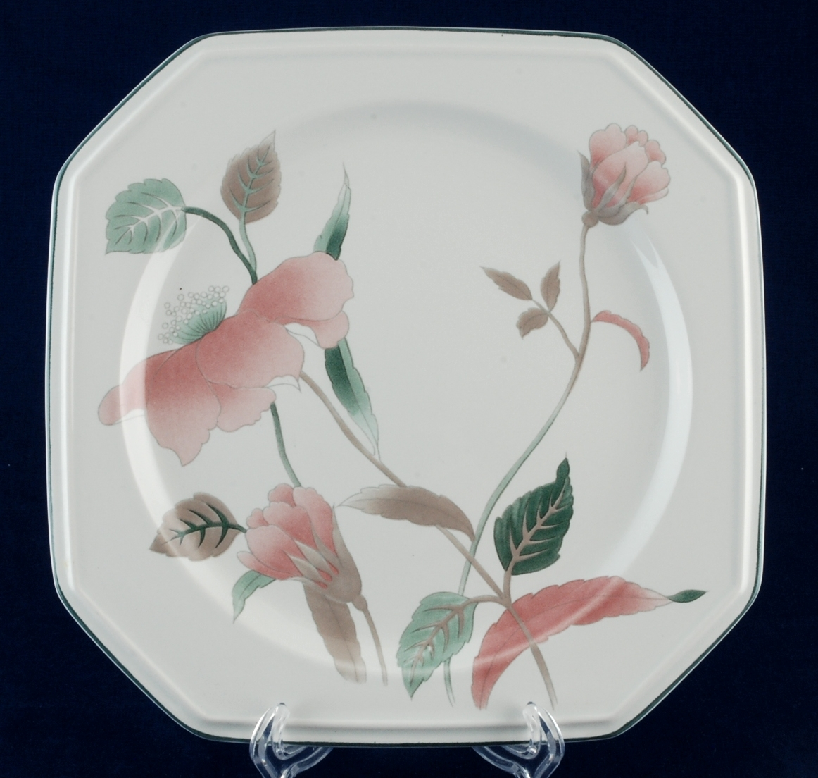Mikasa silk flowers salad lunch plate and similar items mikasa silk flowers salad lunch plate pattern f3003 china new mightylinksfo