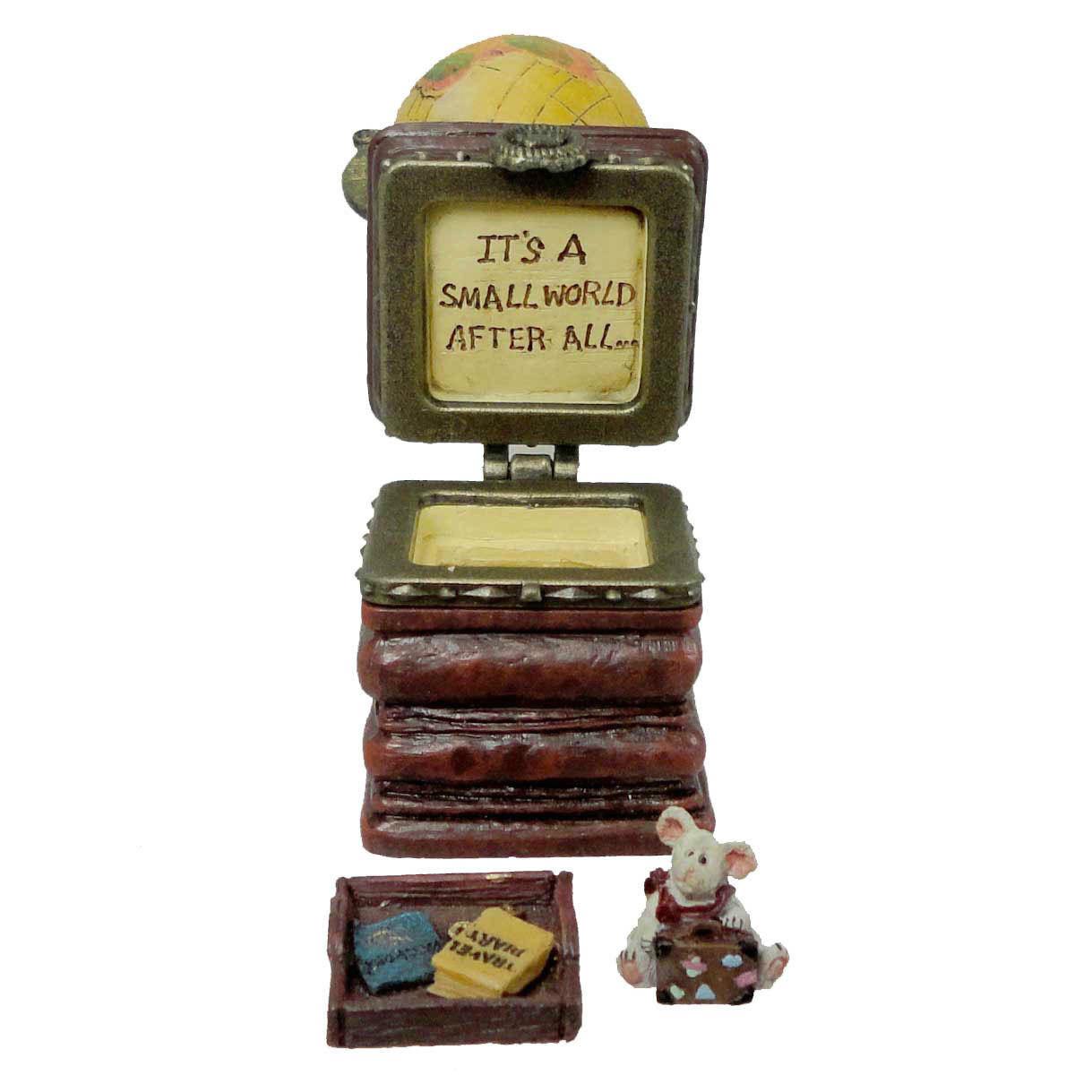 """Boyds Bears Treasure Box """"Sebastian's World w/Columbus McNibble"""" #392168 -1E-NIB"""