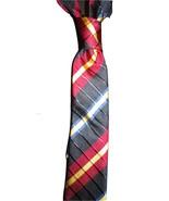 Mens necktie rich striped raised weave vintage silk skinny tie,matching... - $19.50