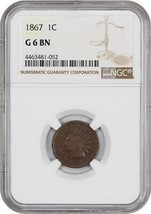 1867 1c NGC Good-06 BN - Indian Cent - $67.90