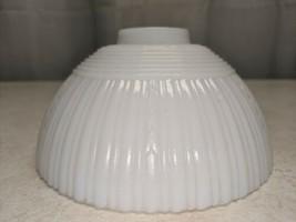 Vtg Art Deco 1930s White Milk Glass Cup Shade Chandelier light fixture o... - $19.79