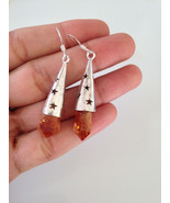 55 carats Citrine SILVER MERLIN CONE WITH RG POINT EARRING, E108 @ Brazil - $30.00