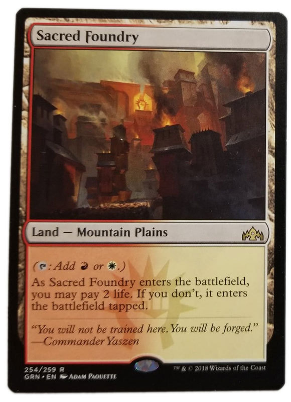 """Magic the Gathering MTG """"Sacred Foundry"""" Rare Guilds of Ravnica Card x1 * NM"""