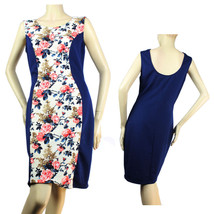Flower Print,Solid Body Dress Nice Ribline Stretch Cute Casual Dress Jun... - $27.99