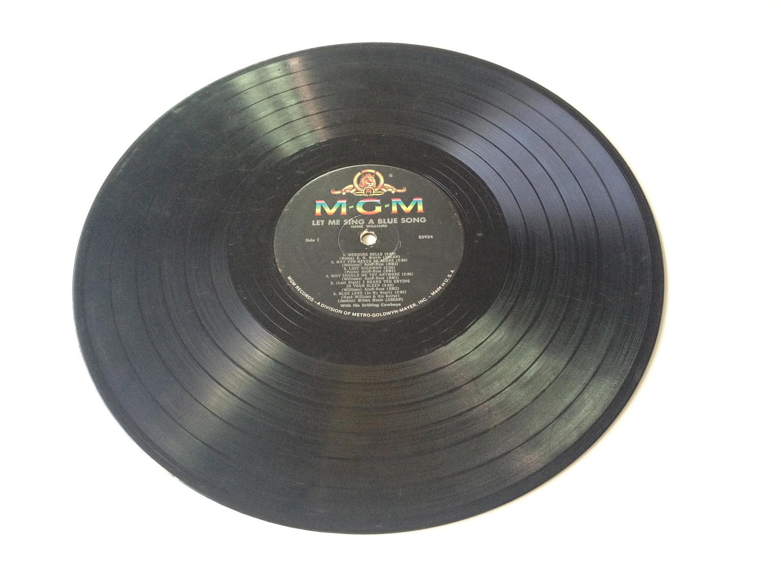 Hank Williams - Let Me Sing A Blue Song LP Vinyl Record Album, 1961