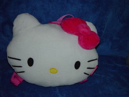 Hello Kitty White Soft Backpack Bag Zip On Back Licensed by Sanrio New No Tags - $27.00