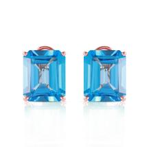 14 CTW 14k Solid Rose Gold Distinction Blue Topaz Earrings - $421.02