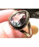 Russian Alexandrite Ring 4.5 SILVER gem color change sterling ENGAGEMENT... - $112.03