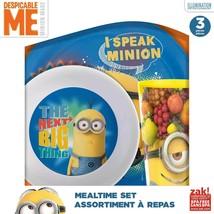 DESPICABLE ME-MINIONS-5 PC.-PLATE, BOWL & CUP SET-includes flatware set - $18.95