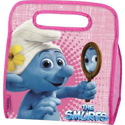SMURFS INSULATED LUNCHBOX. INCLUDES A SANDWICH BOX!