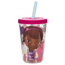 DOC MCSTUFFINS-13 OZ. CHILLER CUP WITH STRAW - $7.95