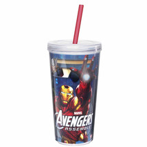 AVENGERS ASSEMBLE-16 OZ. CHILLER CUP WITH STRAW - $7.99