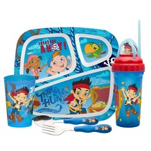 ZAK DESIGNS (jake and the neverland) 5-pc. plate, tumbler, cup & flatwar... - $20.00