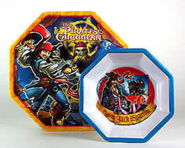Dieney's Pirates Of The Caribbean Plate & Bowl Set 2 Plates & 2 Bowls - $9.95