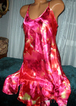 Pink Red Chemise Short Gown 1X Plus Size Adjustable straps - $12.50
