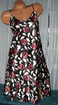 Black Floral Burst Chemise Short Gown 1X 2X Plus Size Adjustable straps - $12.50