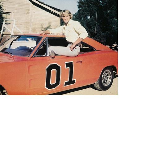 Dukes of Hazzard John Schneider Dodge Charger General Lee 8X10 Color TV Photo