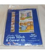 "CROSS STITCH & CREWEL KIT DAYS BELL PULL 5 1/2""X 35"" FULL COLOR DESIGN 1978 - $14.99"