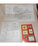 """ARTCRAFT CONCEPTS """"GRISTMILL"""" CREWEL EMBROIDERY 1980 18 X 15 1/2"""" - $9.99"""