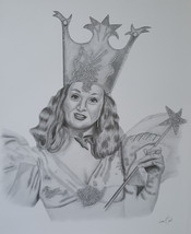 Wizard of Oz Good Witch Pencil Print Art Detailed Drawing Signed Picture... - $19.99