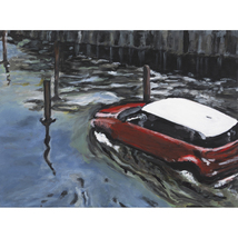 FLOODED STREETS, A Face of Climate Change (original painting) - $1,000.00