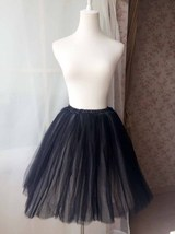 BLACK WHITE Tutu Skirt Designer Adult Tutus Photography Prop Elastic Plu... - $45.00