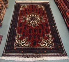 S68, Afghan Vintage Baluch Rug 3'8 x 6'4, Decorative Nomadic Handmade Tr... - $359.10