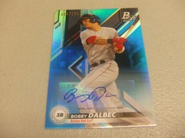 2019 Bowman Platinum Top Prospect Auto Blue /150 Bobby Dalbec Boston Red... - $19.79
