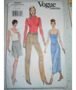 Vogue Misses Skirt & Pants Size 12-16 # 9465  - $3.99