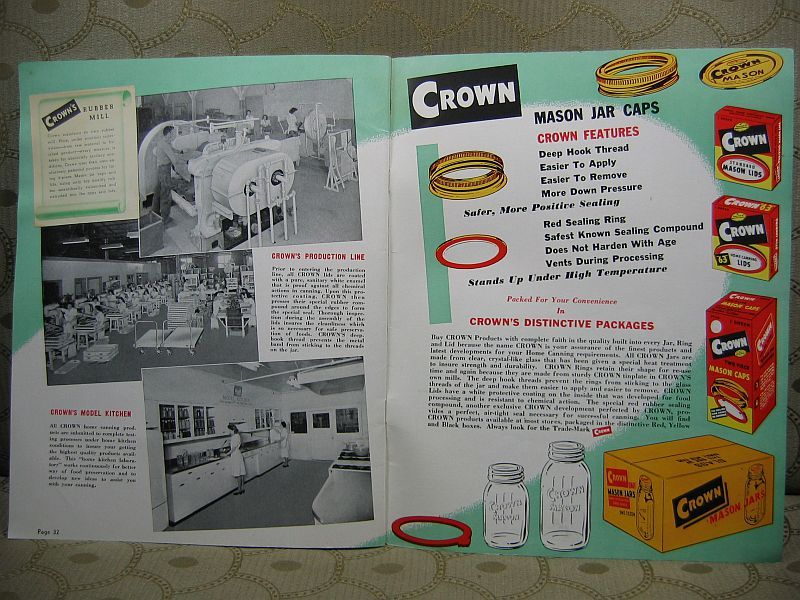 Crown Ideas for Home Canning by Crown Cork Corp. 1948