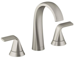 Kohler Cursiva 8 in. Widespread 2-Handle Bathroom Faucet Vibrant Brushed Nickel - $99.00