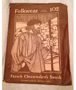 Folkwear French Cheesemaker's Smock #102 Uncut ... - $14.50