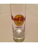 "Hard Rock Cafe 4"" Tall Double Shot Glass Shooter Black Print Nashville - $14.50"