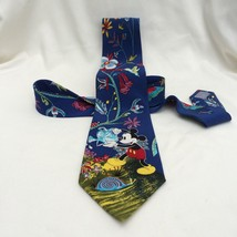 Mickey Mouse Tie Necktie Watering Can Flowers Hummingbird Balancine Tie ... - $38.69