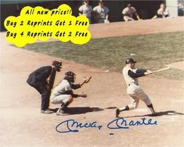 Autographed Mickey Mantle Batting 10x8 Photo (Autograph Reprint) - $9.97