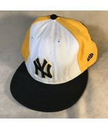 New Era New York Yankees Fitted Baseball Hat Size 7 3/4 - $9.89
