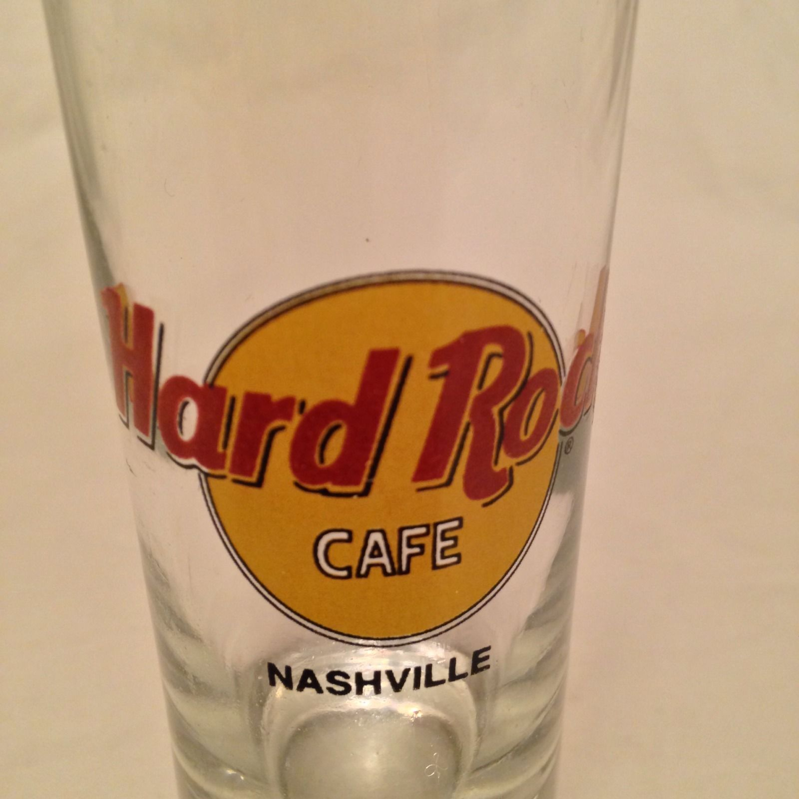 "Hard Rock Cafe 4"" Tall Double Shot Glass Shooter Black Print Nashville"