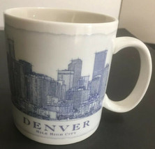 2007 Starbucks Denver Mile High City Skyline Collector 18oz Tea Coffee Mug Cup - $21.82