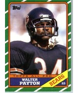 1986 Topps # 11 Walter Payton Chicago Bears Football Card- Near Mint to ... - $3.99