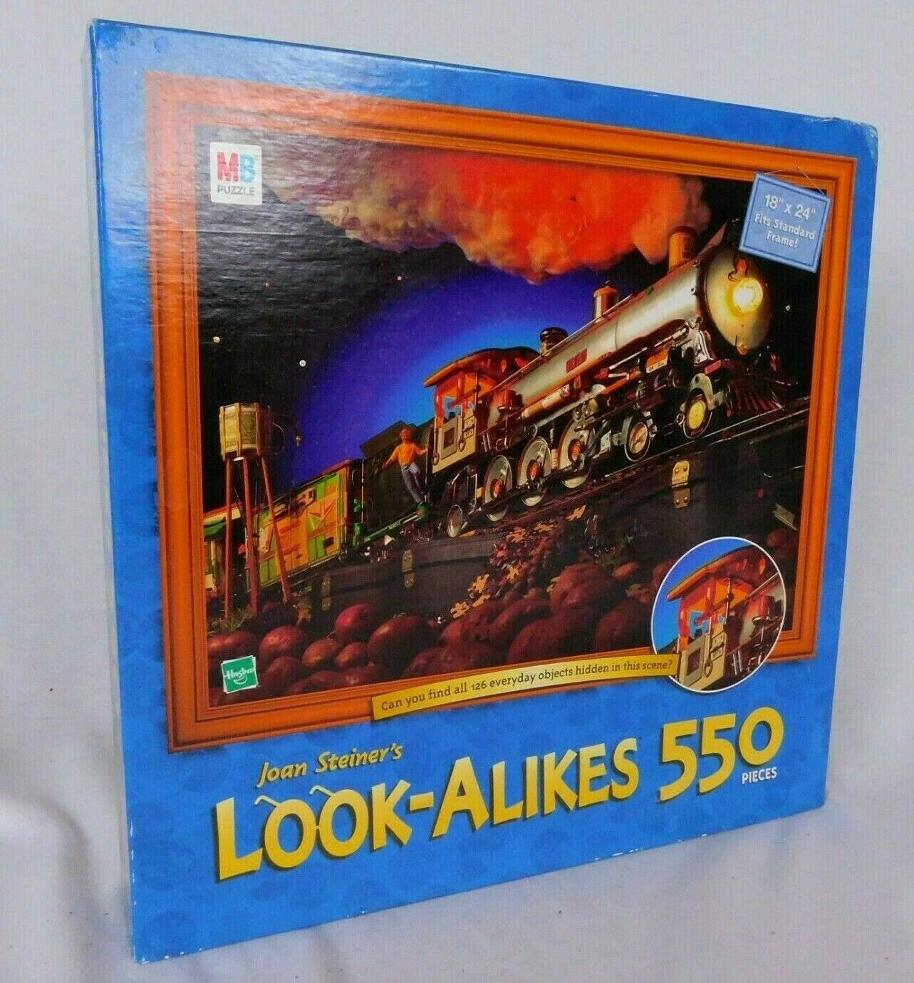 Primary image for Joan Steiner's Look Alikes Train 550 Piece Jigsaw Puzzle Hidden Objects Hasbro