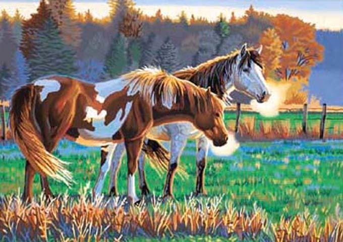 Pasture buddies cross stitch pattern
