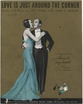 Love Is Just Around The Corner [Sheet music] by Robin, Leo ; Gensler, Lewis E. - $11.54