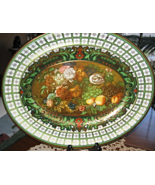 Daher Decorated Metal Oval Platter-Fruit & Floral- Wall Display Only-Eng... - $12.00